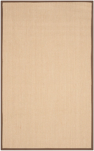 Safavieh Natural Fiber 5' x 8' Area Rug, Maize/Brown, large