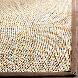 Safavieh Natural Fiber 5' x 8' Area Rug, Maize/Brown, large