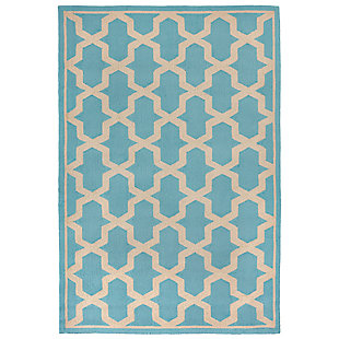 "Trapani Diamonds 3'6"" x 5'6"" Indoor/Outdoor Rug, Blue, large"