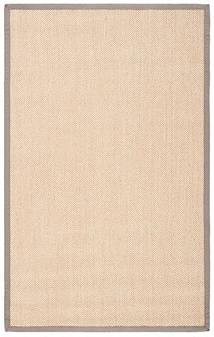 Safavieh Natural Fiber 6' x 9' Area Rug, Maize/Gray, large