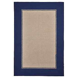 "Trapani Banded 5' x 7'6"" Indoor/Outdoor Rug, Blue, large"
