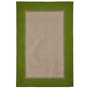 "Trapani Banded 3'6"" x 5'6"" Indoor/Outdoor Rug, Green, large"