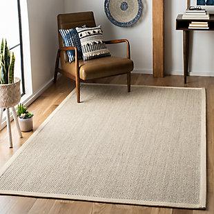 Safavieh Natural Fiber 5' x 8' Area Rug, Marble/Beige, rollover