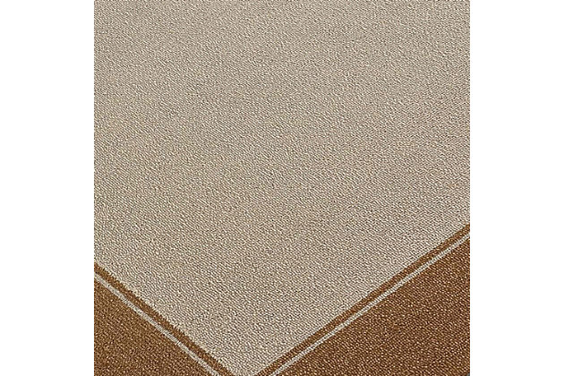 "Trapani Banded 3'5"" x 5'5"" Indoor/Outdoor Rug, Camel, large"