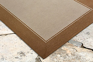 """Trapani Banded 5' x 7'6"""" Indoor/Outdoor Rug, Camel, rollover"""