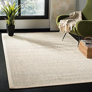 Safavieh Natural Fiber 5' x 8' Area Rug, Black/Ivory, rollover