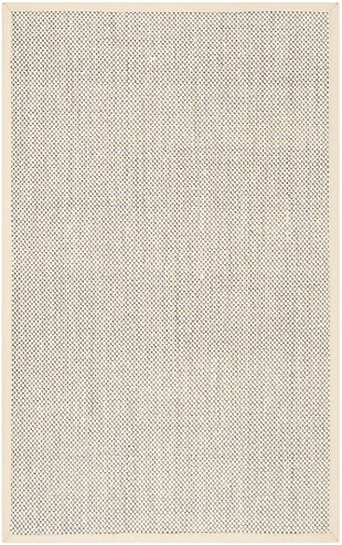 Safavieh Natural Fiber 5' x 8' Area Rug, Black/Ivory, large