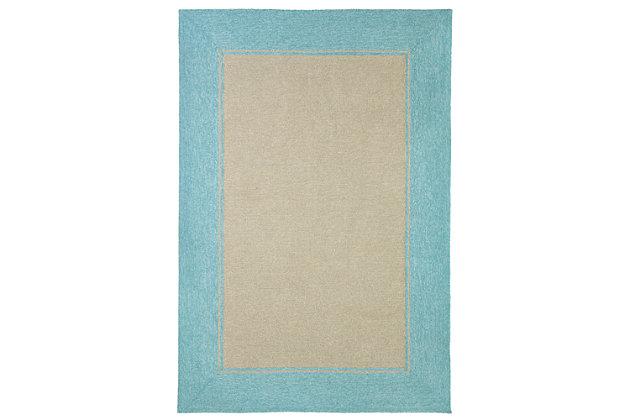 """Trapani Banded 3'5"""" x 5'5"""", Blue, large"""