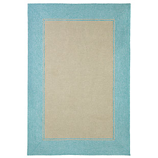 """Trapani Banded 7'6"""" x 9'6"""" Indoor/Outdoor Rug, Blue, large"""