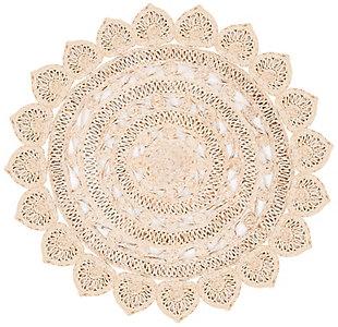 Safavieh Natural Fiber 6' x 6' Round Area Rug, Natural, large