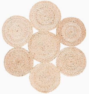 Safavieh Natural Fiber 6' x 6' Round Area Rug, Natural, rollover