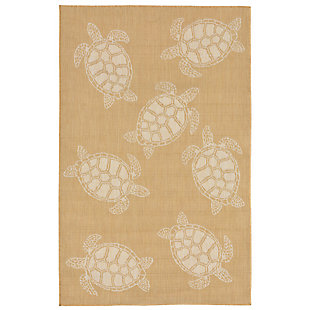 "Arbor Flatback 4'10"" x 7'6"" Indoor/Outdoor Rug, Camel, large"