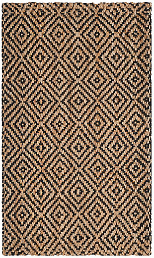 Safavieh Natural Fiber 4' x 6' Area Rug, Natural/Black, rollover