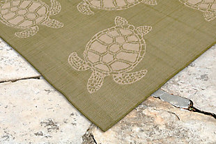"Arbor Flatback 7'10"" x 9'10"" Indoor/Outdoor Rug, Green, rollover"
