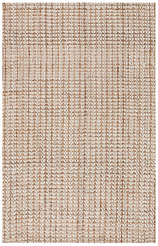 Safavieh Natural Fiber 5' x 8' Area Rug, Ivory/Light Brown, large