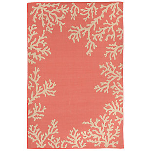 "Arbor Ocean 4'10"" x 7'6"" Indoor/Outdoor Rug, Orange, large"