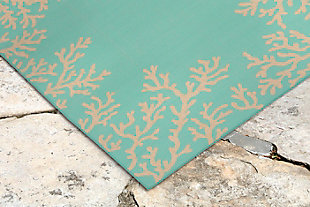 "Arbor Ocean 3'4"" x 4'10"" Indoor/Outdoor Rug, Blue, rollover"