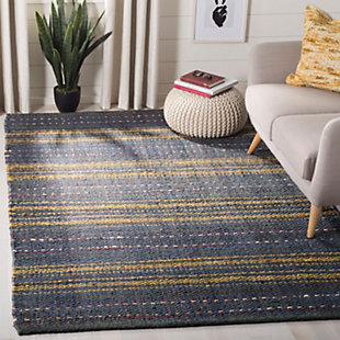 Safavieh Natural Fiber 5' x 8' Area Rug, Blue/Gold, rollover