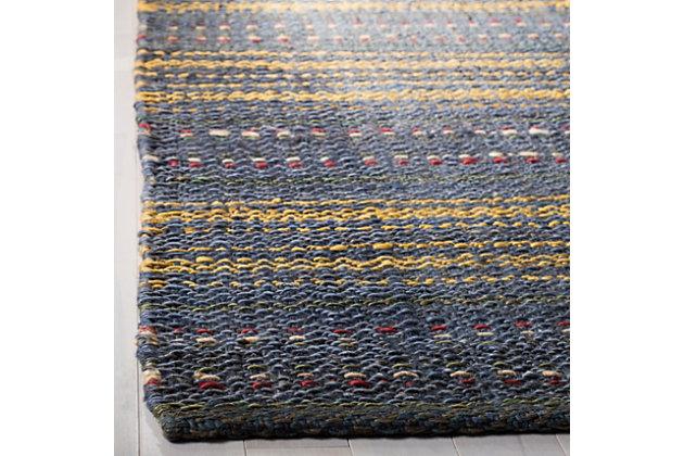 Safavieh Natural Fiber 5' x 8' Area Rug, Blue/Gold, large