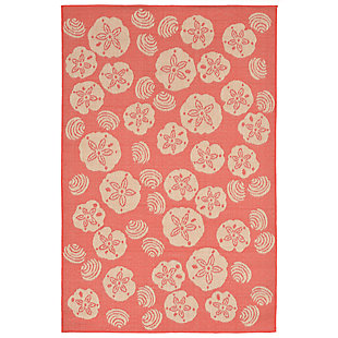 "Arbor Ocean 7'10"" x 9'10"" Indoor/Outdoor Rug, Orange, large"