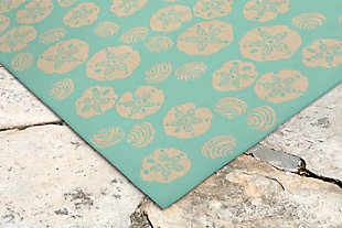 """Arbor Ocean 3'4"""" x 4'10"""" Indoor/Outdoor Rug, Blue, rollover"""