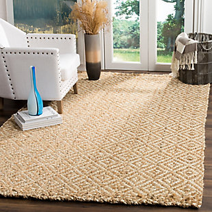 Safavieh Natural Fiber 5' x 8' Area Rug, Ivory/Natural, rollover