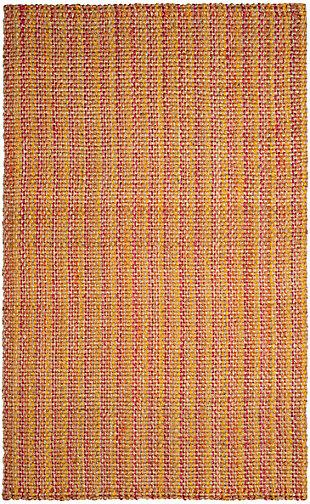 Safavieh Natural Fiber 6' x 9' Area Rug, Pink/Multi, rollover