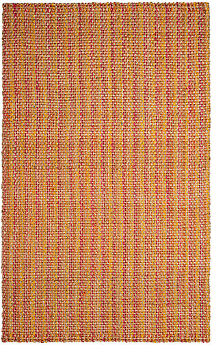 Safavieh Natural Fiber 6' x 9' Area Rug, Pink/Multi, large