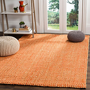Safavieh Natural Fiber 5' x 8' Area Rug, Rust/Natural, rollover