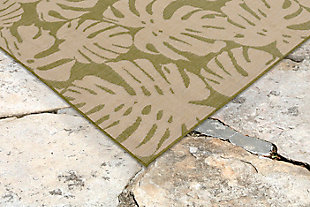 "Arobor Tropical 4'10"" x 7'6"" Indoor/Outdoor Rug, Green, rollover"
