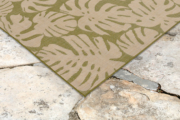 "Arobor Tropical 4'10"" x 7'6"" Indoor/Outdoor Rug, Green, large"