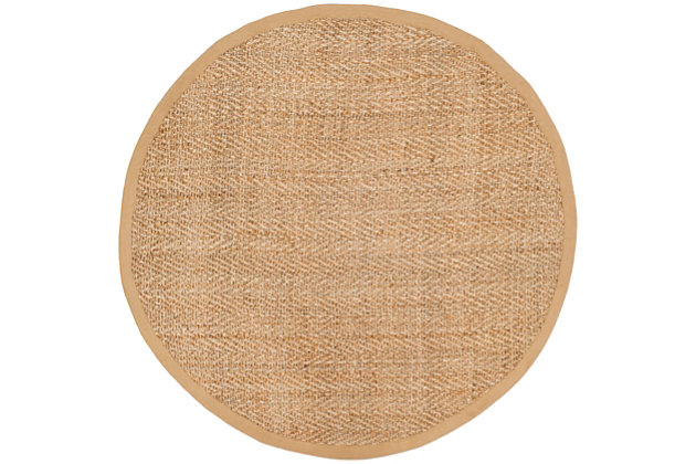 Safavieh Natural Fiber 8' x 8' Round Area Rug, Natural, large