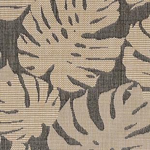 """Arobor Tropical 3'4"""" x 4'10"""" Indoor/Outdoor Rug, Gray, large"""