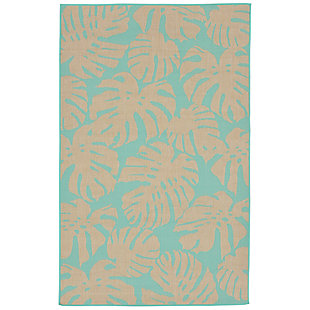 "Arobor Tropical 4'10"" x 7'6"" Indoor/Outdoor Rug, Blue, large"