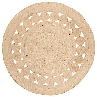 Safavieh Natural Fiber 6' x 6' Round Area Rug, Ivory, rollover