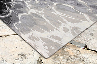 "Sardinia Fjord 7'6"" x 9'6"" Indoor/Outdoor Rug, Black, rollover"