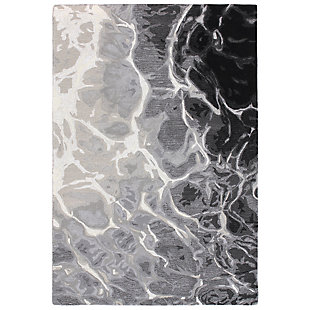 "Sardinia Fjord 7'6"" x 9'6"" Indoor/Outdoor Rug, Black, large"