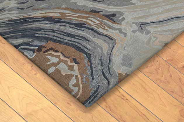 "Sardinia Abstract 5' x 7'6"" Indoor/Outdoor Rug, Natural, large"
