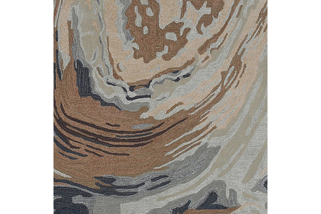 "Sardinia Abstract 5' x 7'6"" Indoor/Outdoor Rug, Natural, large"