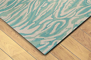 "Melida Mineral 5' x 7'6"" Indoor/Outdoor Rug, Blue, rollover"