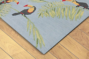 "Melida Tropical 3'6"" x 5'6"" Rug, Blue, rollover"