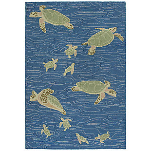 "Melida Flapper 5' x 7'6"" Rug, Blue, large"