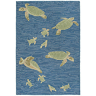 "Melida Flapper 7'6"" x 9'6"" Rug, Blue, large"