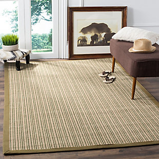 Safavieh Natural Fiber 5' x 8' Area Rug, Green, rollover