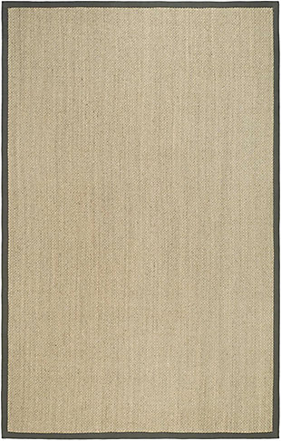 Safavieh Natural Fiber 5' x 8' Area Rug, Marble/Gray, rollover
