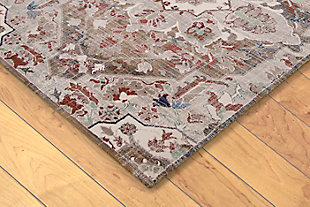"Hanley Center Star 4'10"" x 7'6"" Rug, Beige, rollover"