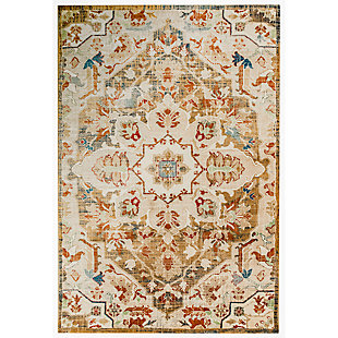 "Hanley Center Star 4'10"" x 7'6"" Rug, Beige, large"