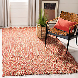 Safavieh Natural Fiber 5' x 8' Area Rug, Rust, rollover