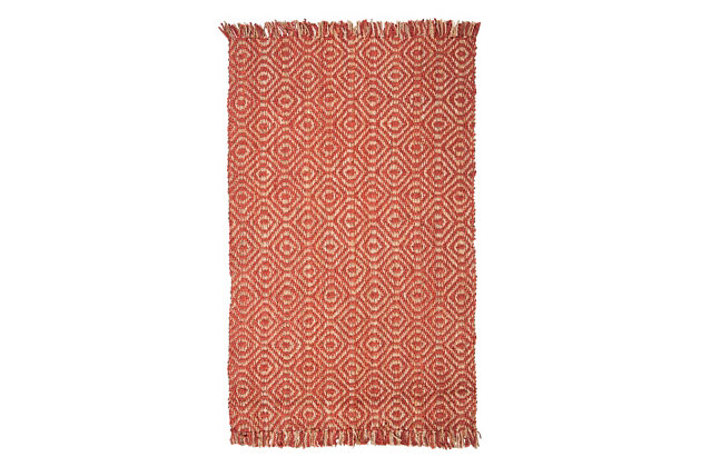 Safavieh Natural Fiber 5' x 8' Area Rug, Rust, large