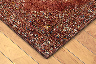 "Manor Ornate 3'4"" x 4'10"" Rug, Red, rollover"